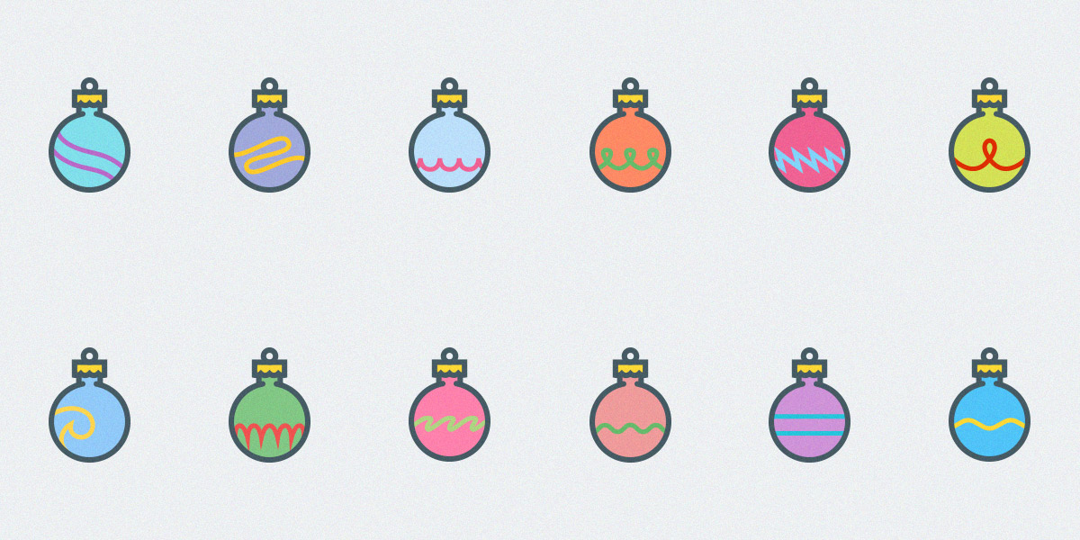 free-set-of-12-christmas-ornaments