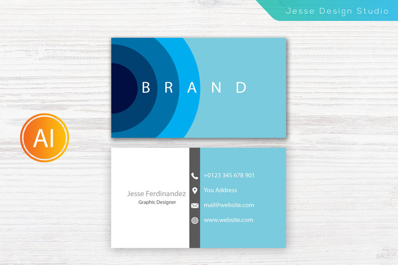 30 best stylish business card templates designazure modern business card template vol 9 new accmission Gallery