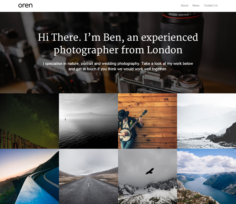 oren-free-portfolio-wordpress-theme