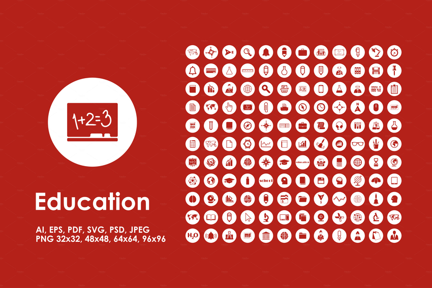 set-of-education-simple-icons-2