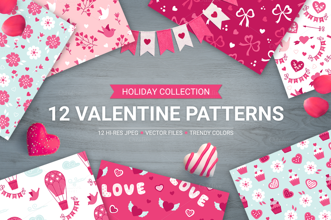 12-Valentine-Seamless-patterns