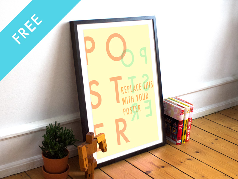 2-Free-Realistic-Poster-Frame-Mockup