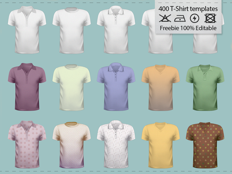 50-Free-T-Shirt-Template-Pack