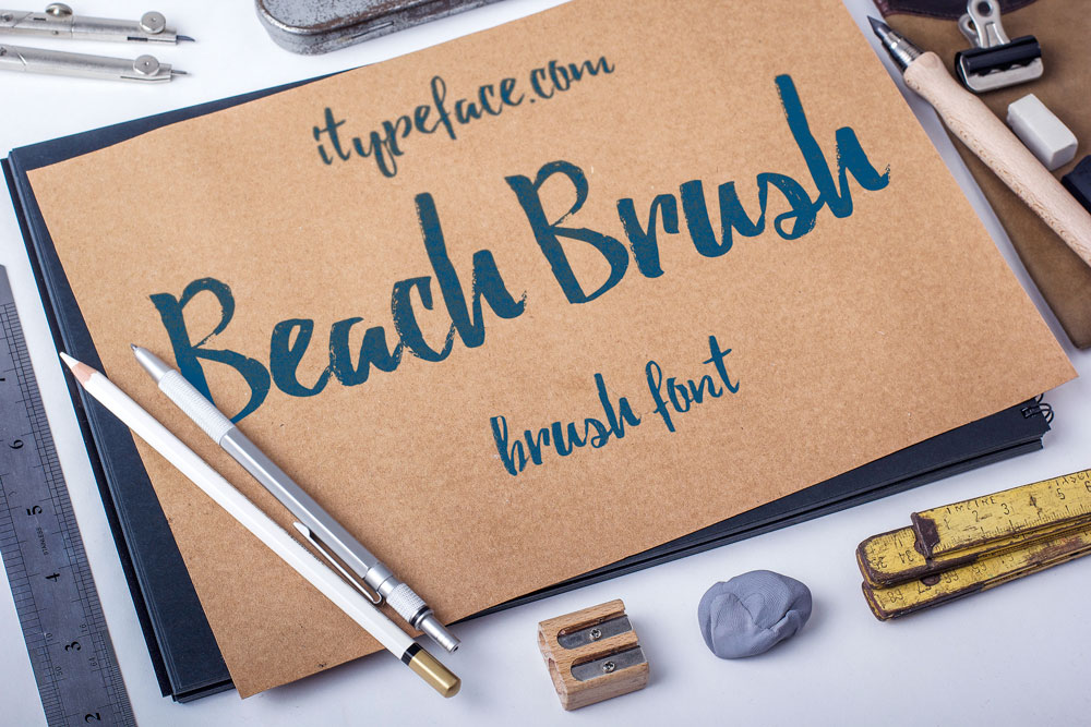 Beach-Brush-Font
