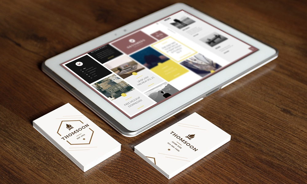 Business-Card-Free-mockup-and-Tablet