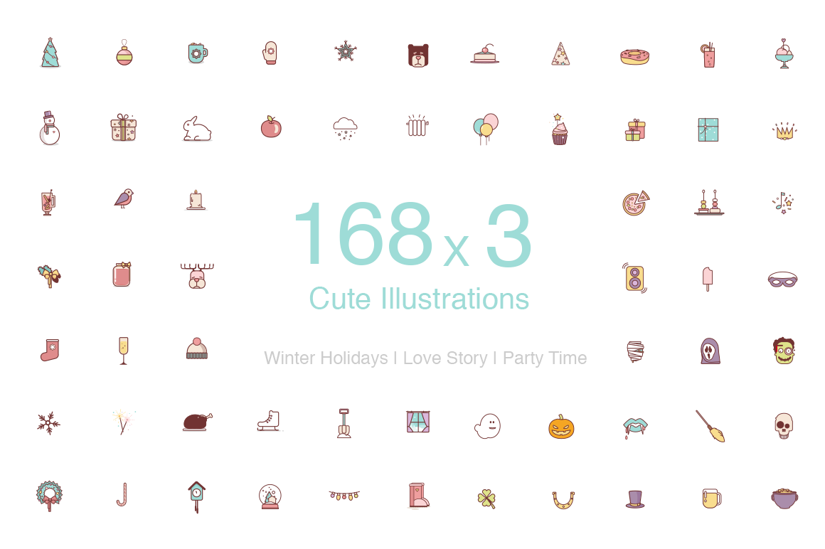 Cute-Illustrated-Events-Icons
