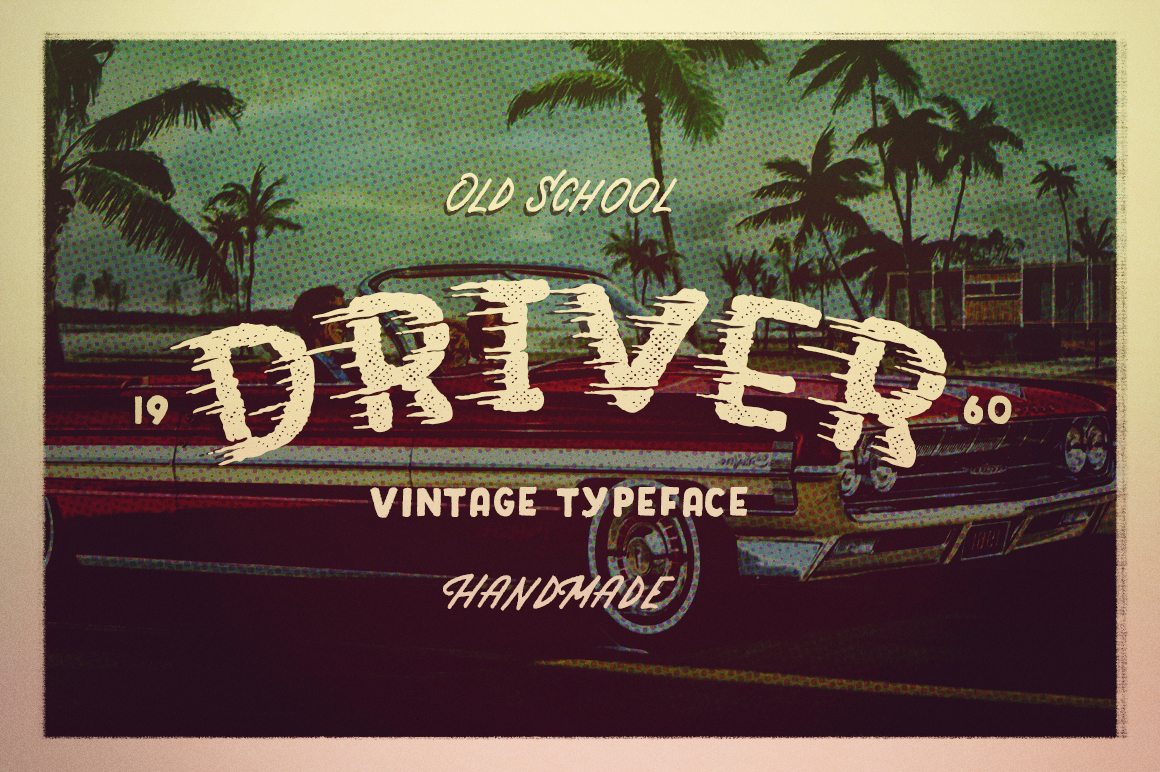 Driver-Retro-action-typeface