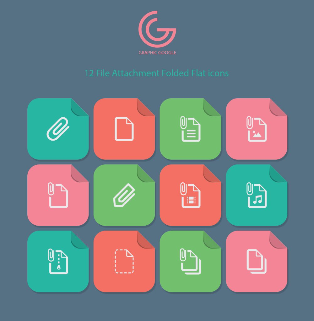 File-Attachment-Folded-Flat-Icons