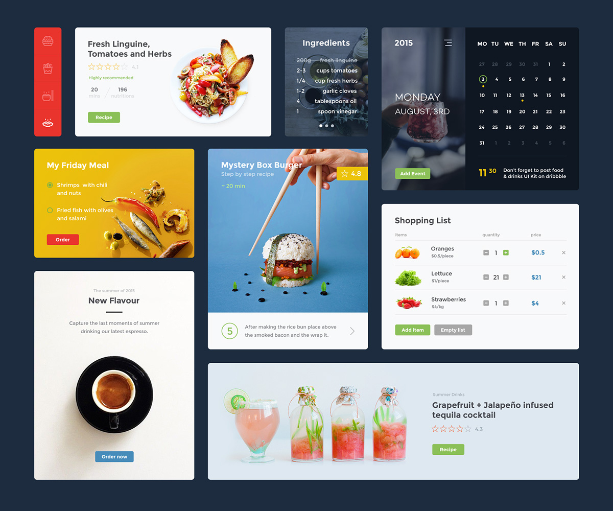 Food-Drink-UI-Kit2