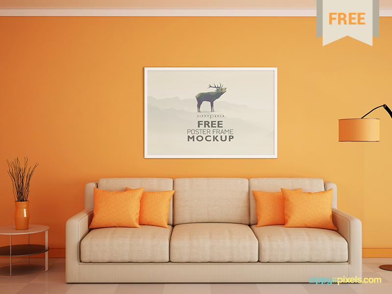Free-Poster-and-Photo-Frame-Mockup