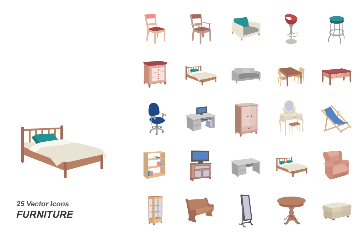 Furniture-color-vector-icons