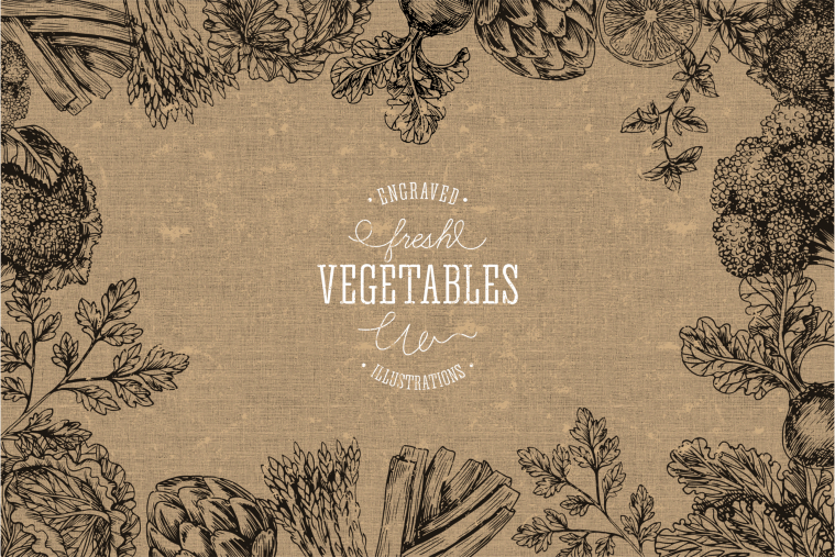 Handsketched-vegetables