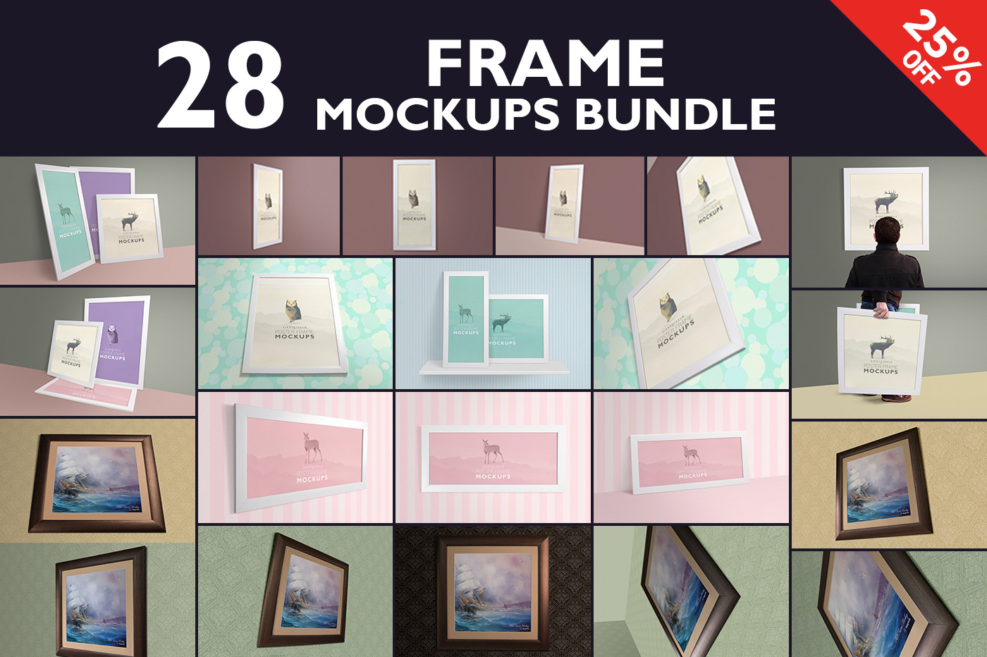 Photo-Poster-Frame-Mockup-Bundle
