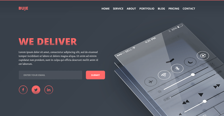 buje-free-one-page-html-app-landing-page