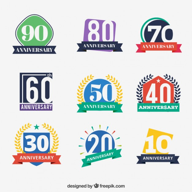 colored-anniversary-badges