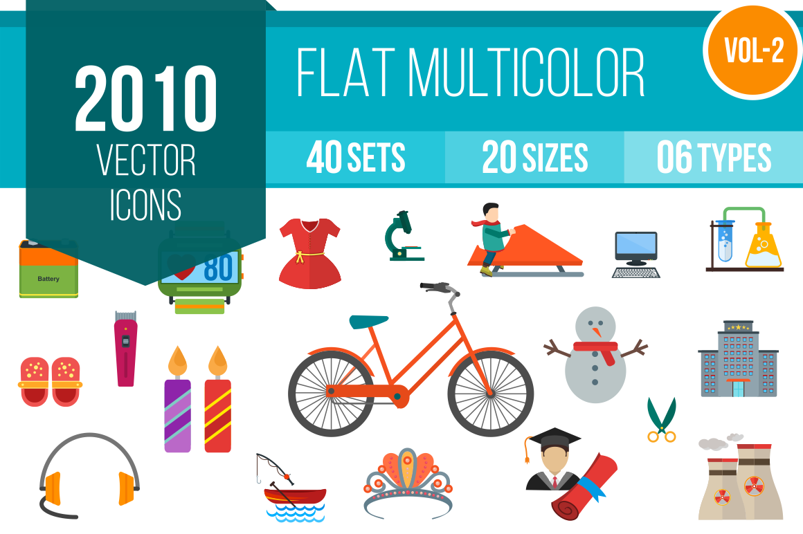2010-Vector-Flat-Multicolor-Icons