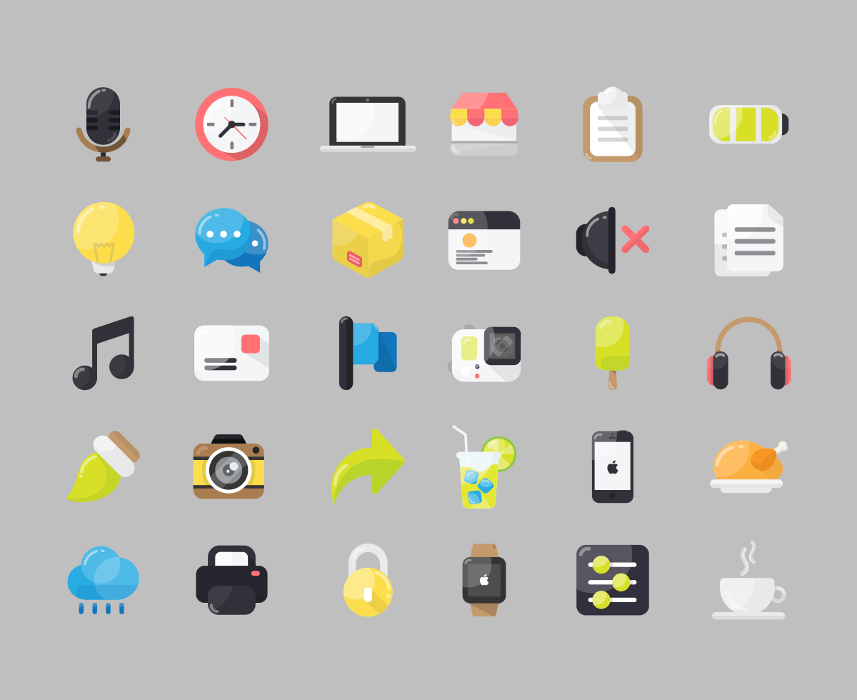 30-free-flat-icon-pack