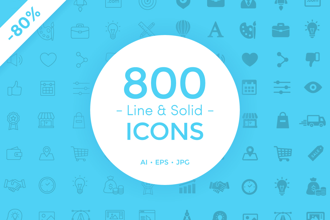 800-Line-Solid-Icons-Bundle