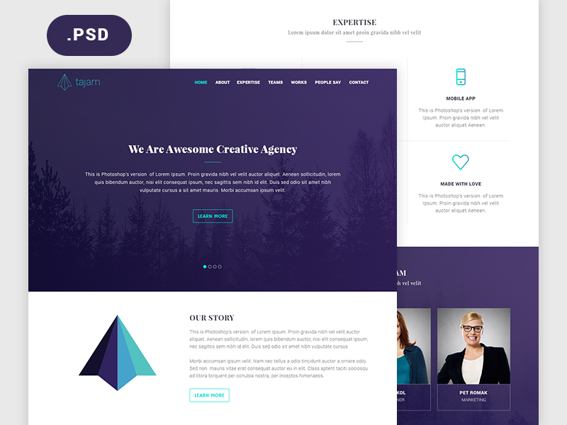 Agency-Website-PSD