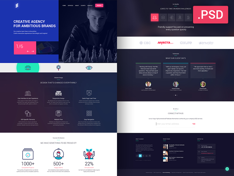 Creative-Website-Design-Free-PSD