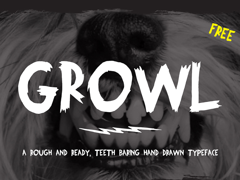 FREE-Growl-Typeface