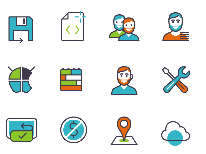 Free-Apps-Products-Features-Icons