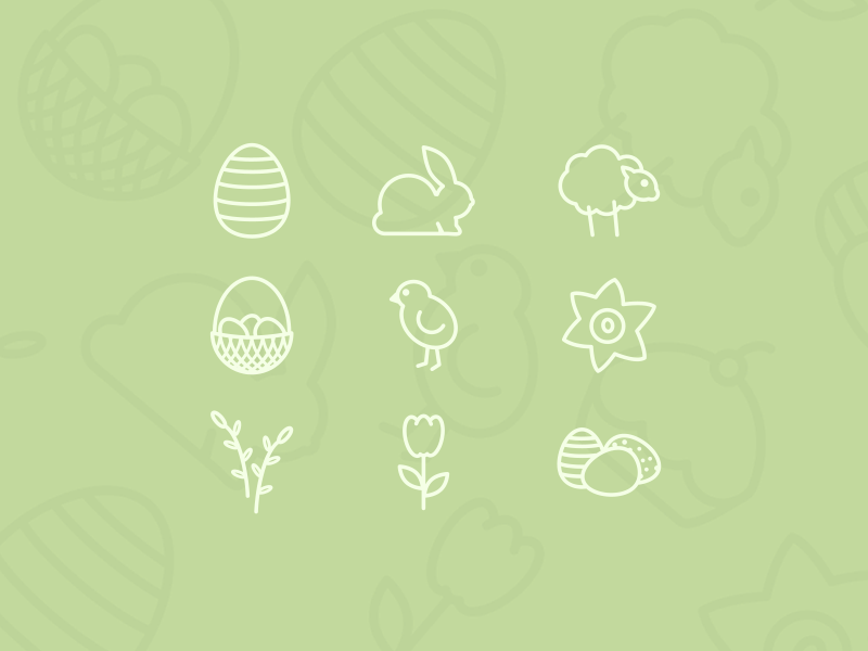 Free-Easter-Icon-Set