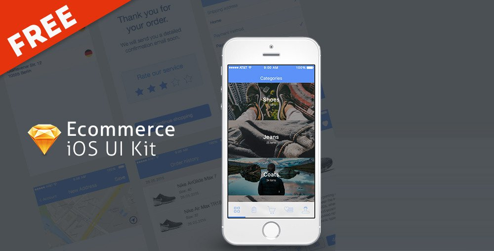 Free-Ecommerce-iOS-UI-Kit
