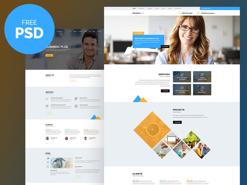 Free-PSD-Business-Plus