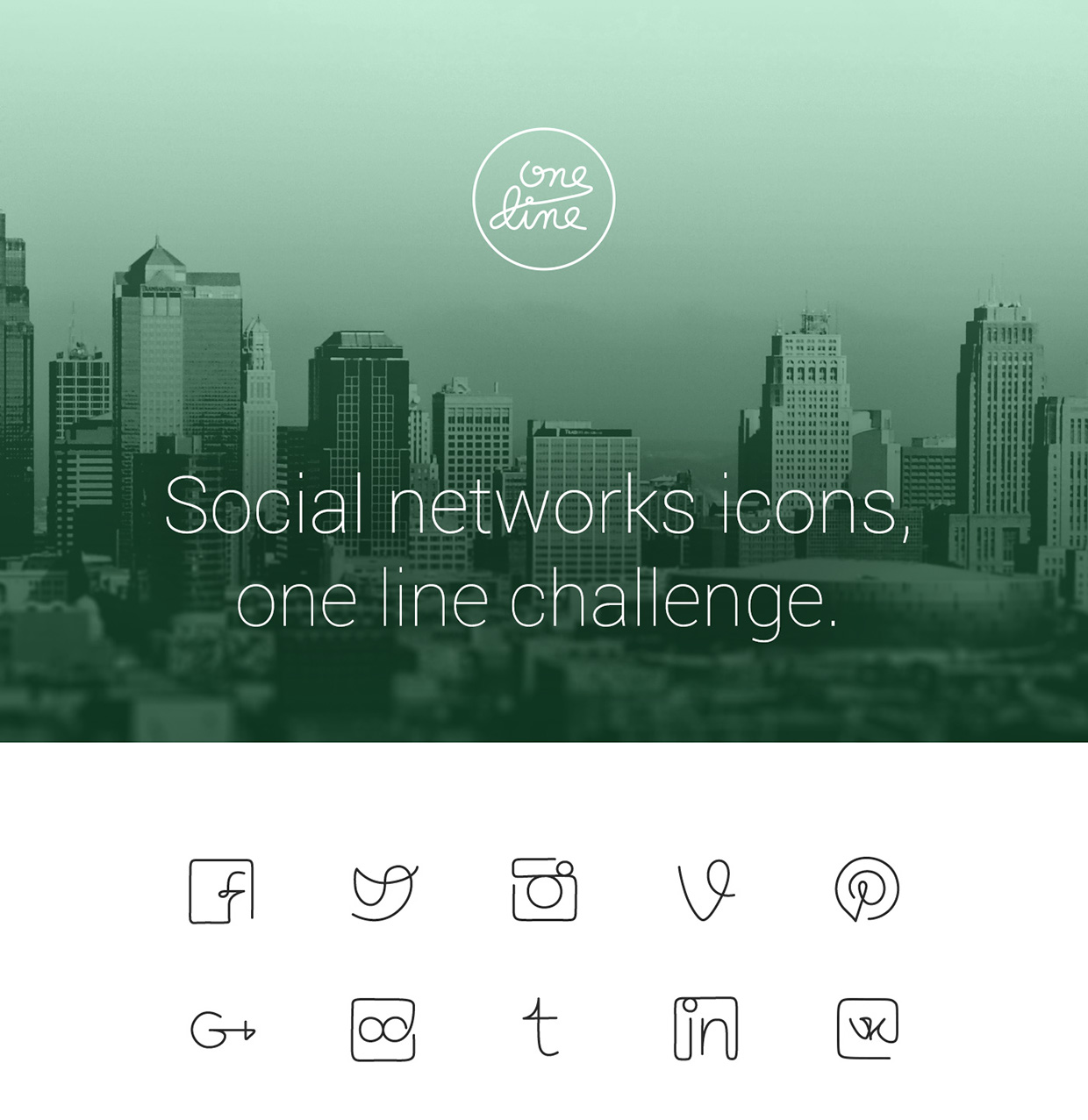 One-line-Free-Social-Networks-icons