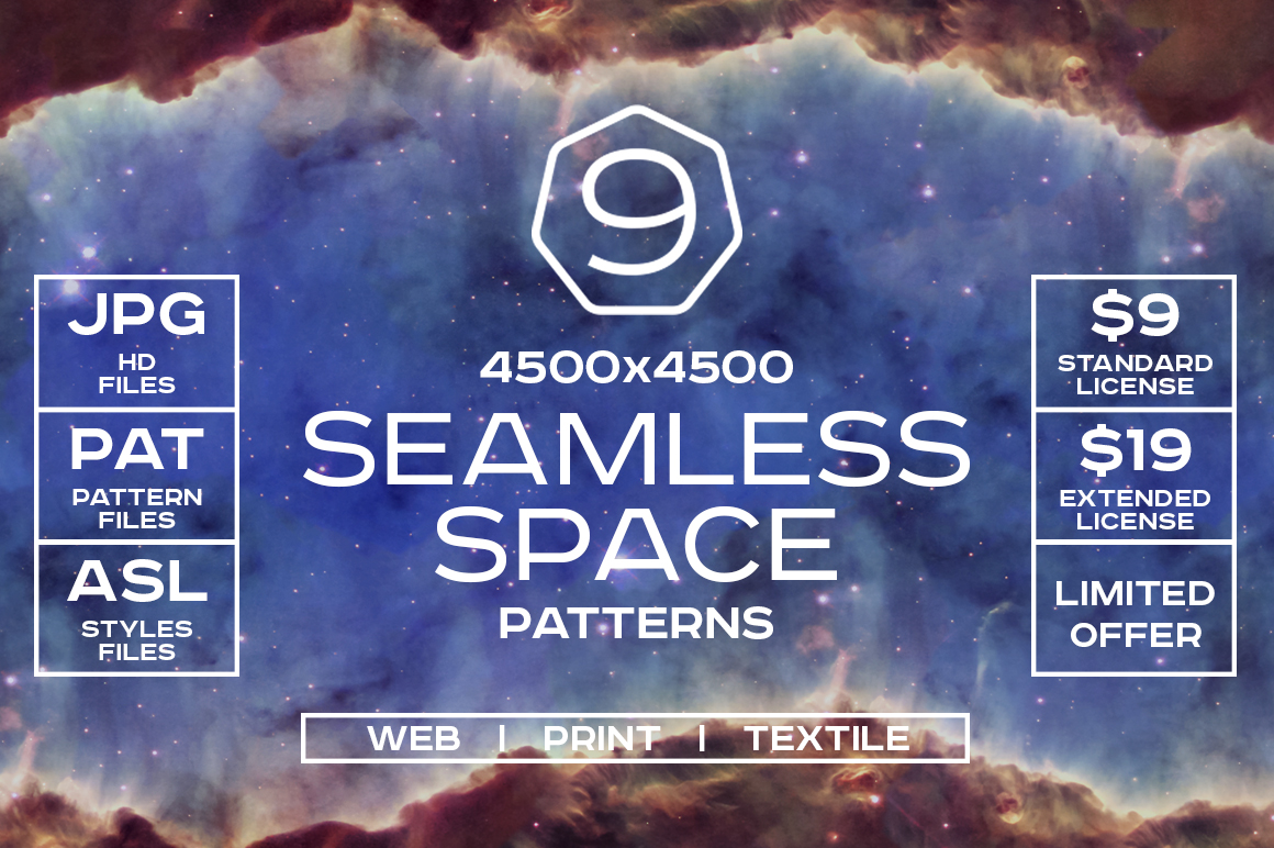 Seamless-Space-Patterns-Set
