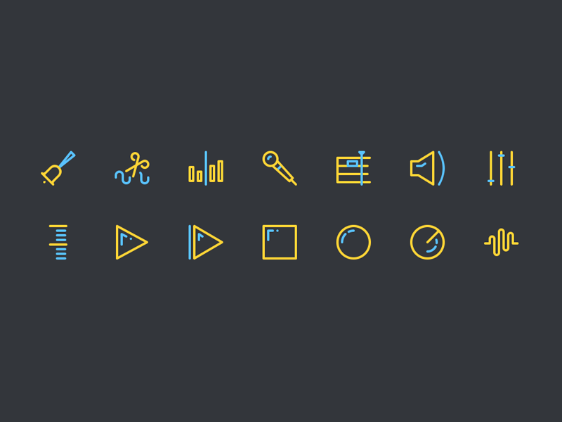 Sound-editing-icons