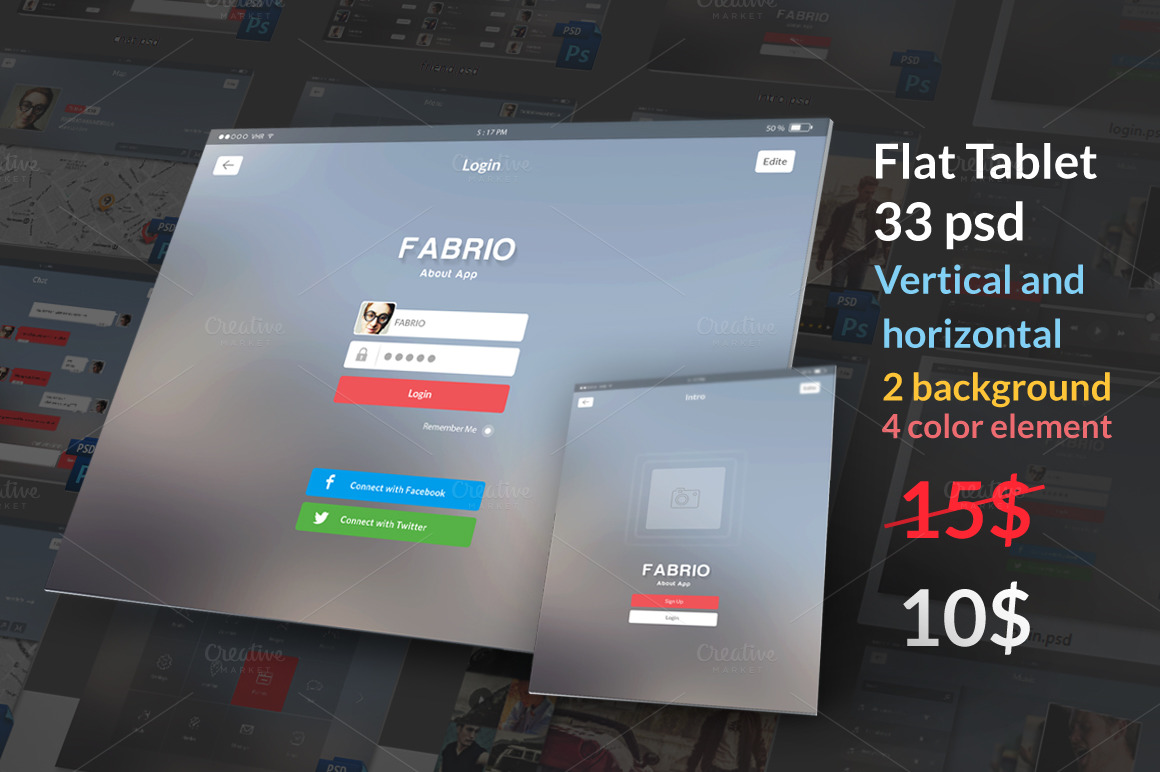 Tablet-Flat-UI