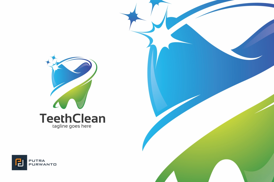 Teeth-Clean-Dental-Logo-Template