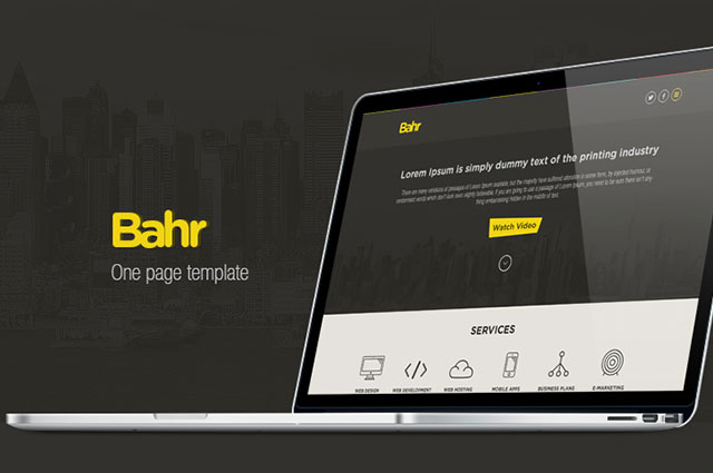 bahr-one-page-template