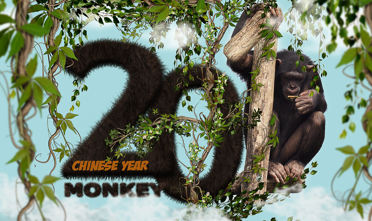 chinese-monkey-year-text-effect-in-photoshop