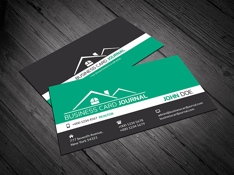 15 free real estate business card templates designazure corporate design realtor business card template wajeb Images