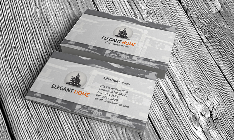 15 free real estate business card templates designazure elegant real estate business card template accmission Choice Image