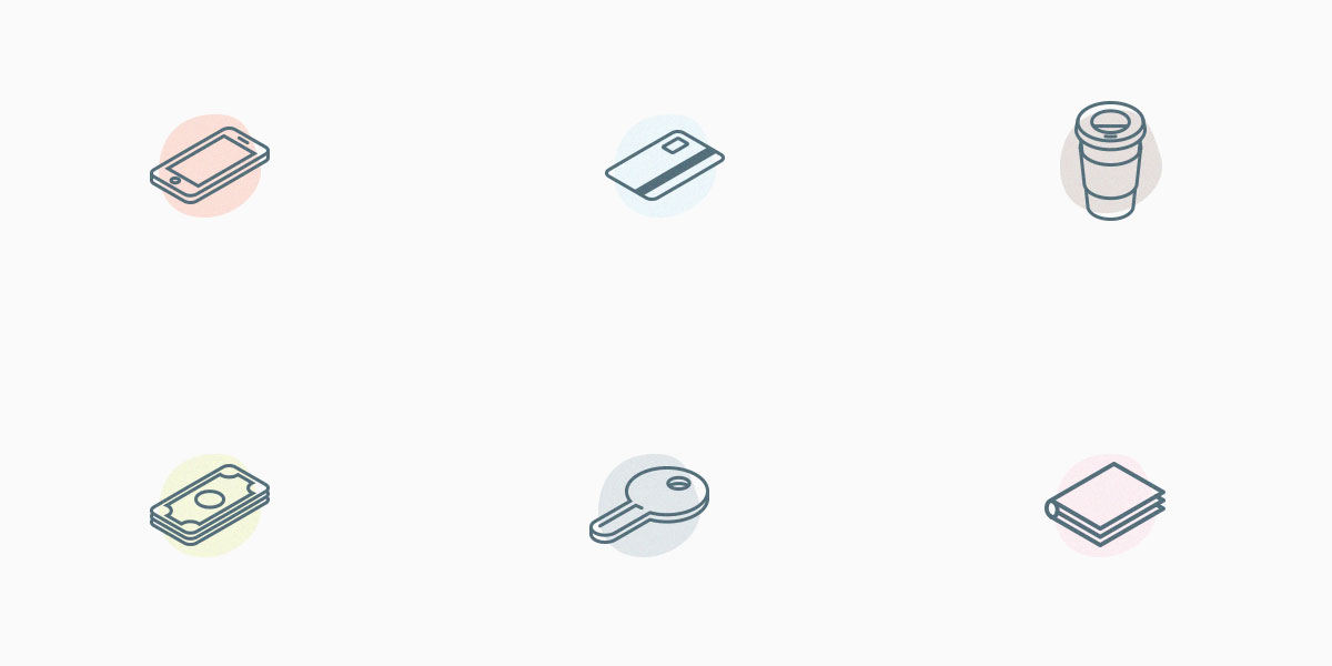 everyday-carry-isometric-icons