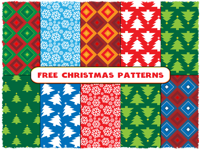 free-christmas-seamless-patterns