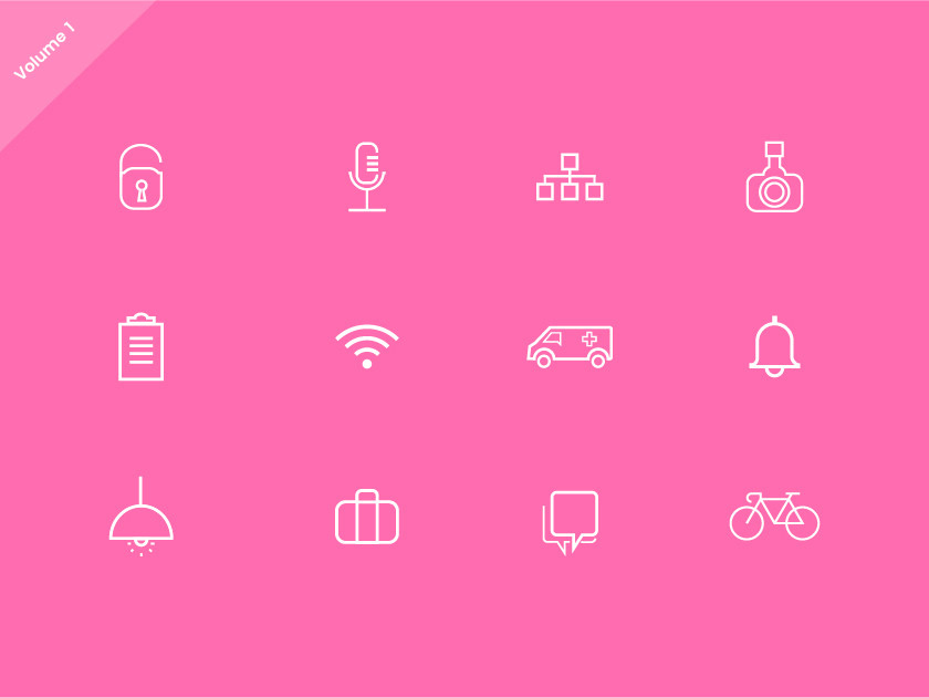 free-website-line-icons-set