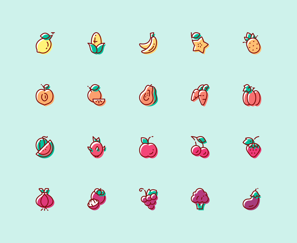 fruit-vegetables-icons