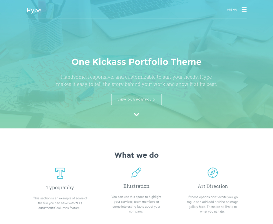 hype-free-portfolio-wordpress-theme