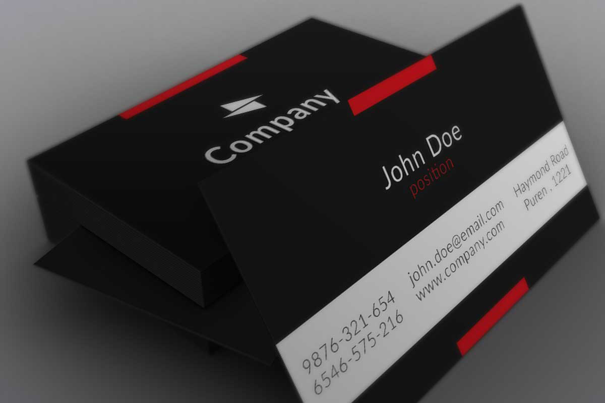 Black business card template trattorialeondoro stylish black business card business card templates fbccfo Image collections