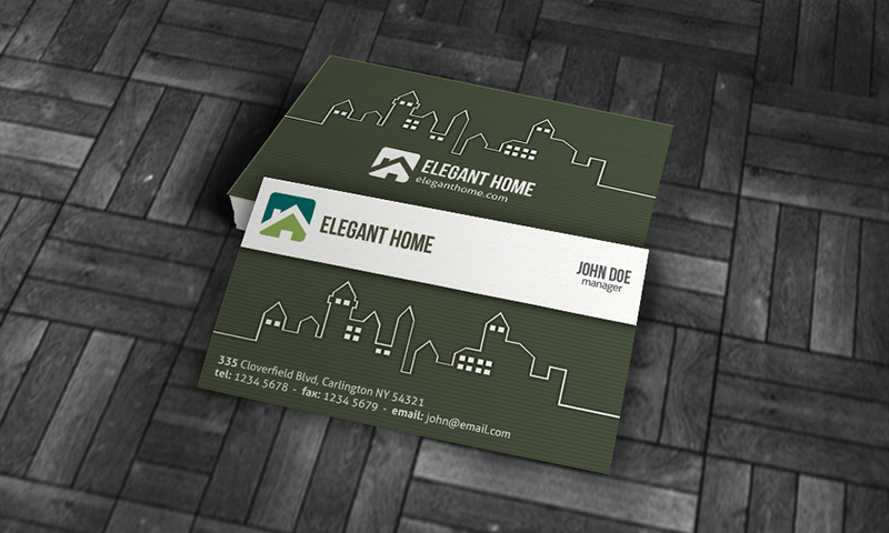 15 free real estate business card templates designazure modern real estate business card template wajeb Gallery