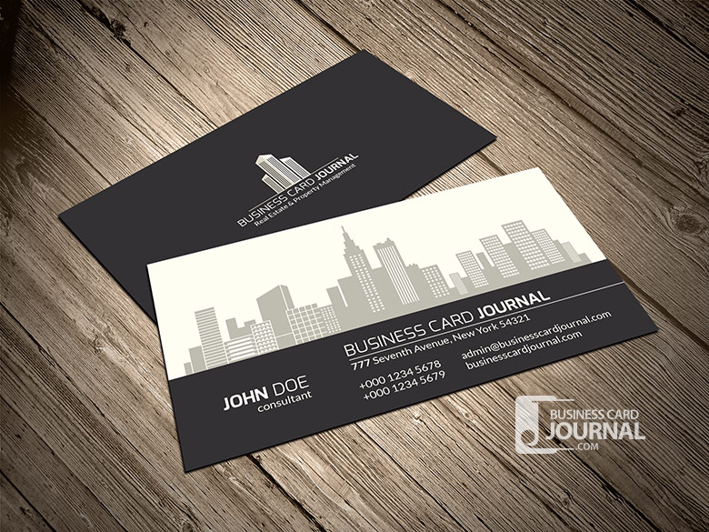 Real Estate Property Management Business Card Template