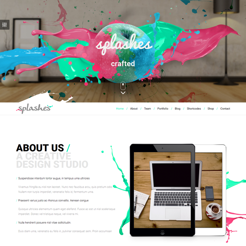 splashes-creative-agency-template