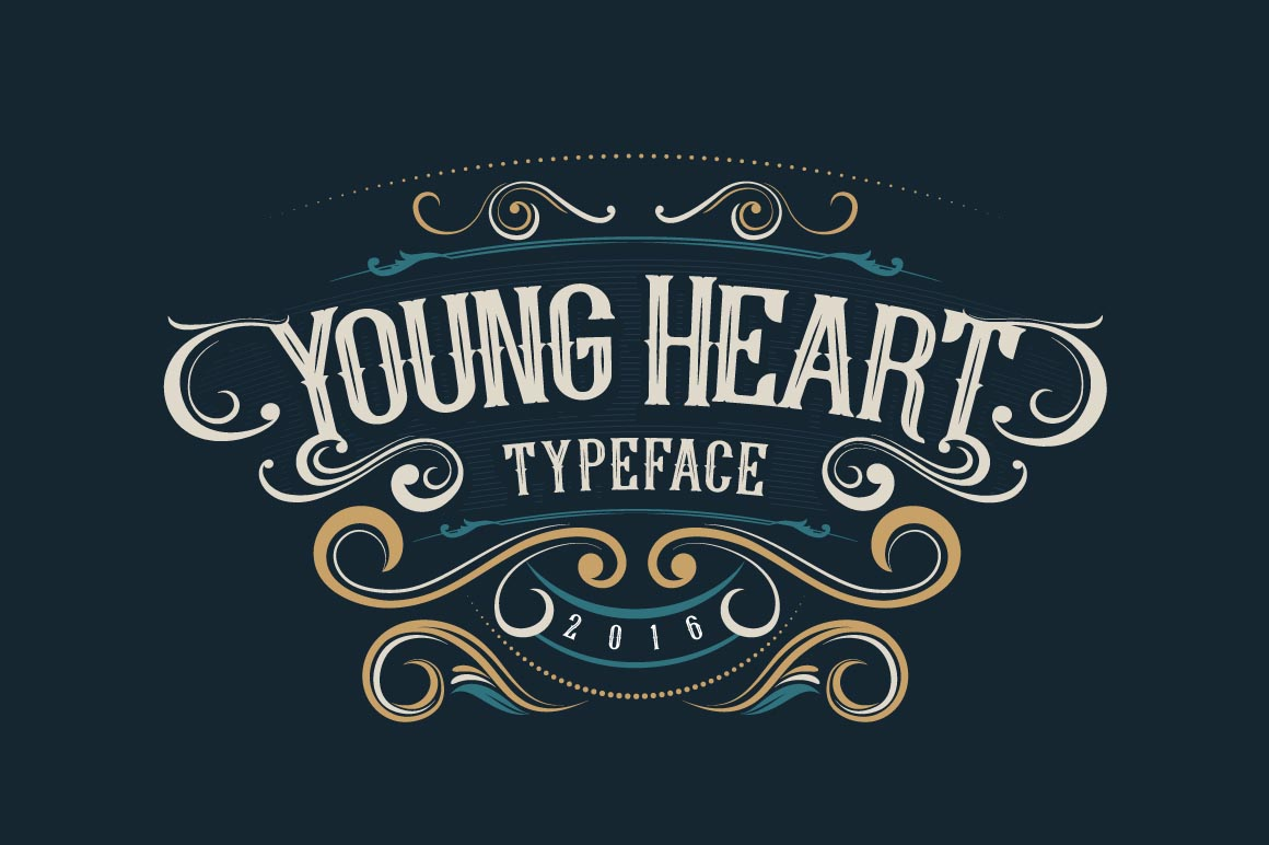 young-heart-free-font