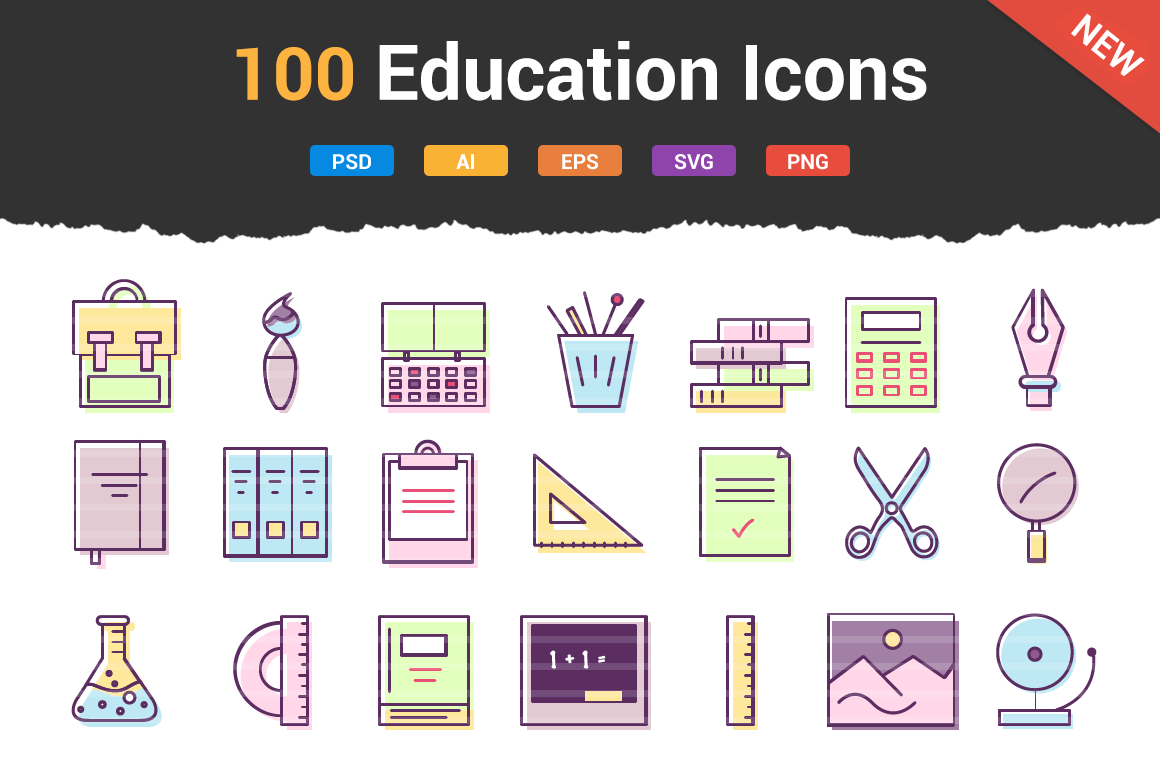 100-Education-School-Icons