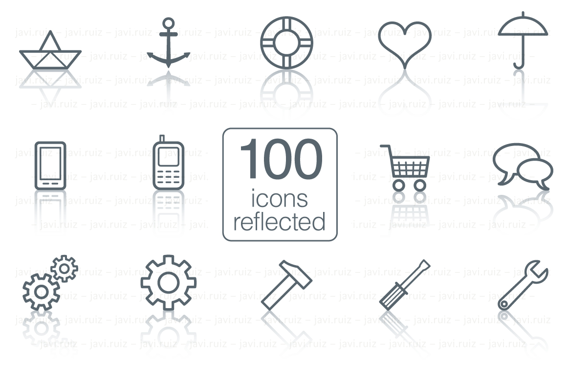 100-icons-reflected